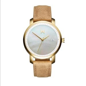 🖤💫 MVMT Watch *New* Gold Pearl + Leather